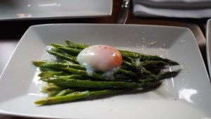 Asparagus, Parmesan, 63° Egg at Modern Steak
