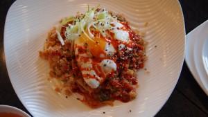Kimchi Fried Rice at Watercress Express Calgary